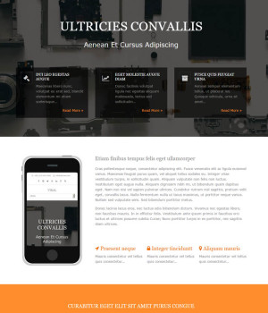 Example of a Single Page Layout website