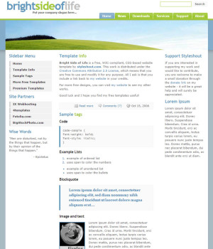 Example of a  website